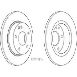 Тормозной диск (Ferodo) DDF1034