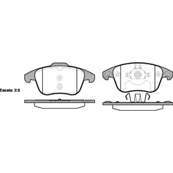 Комплект тормозных колодок, дисковый тормоз (Remsa) 124900