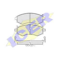 Комплект тормозных колодок, дисковый тормоз (Icer) 181267