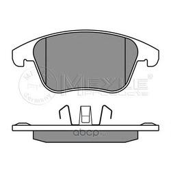Комплект тормозных колодок, дисковый тормоз (Meyle) 0252455719