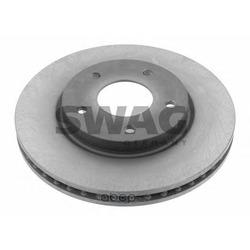 Диск тормозной передний вентилируемый (Swag) 80931275