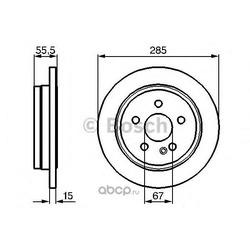 Тормозной диск (Bosch) 0986478469