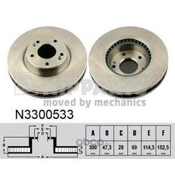 Тормозной диск (Nipparts) N3300533