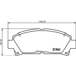 Комплект тормозных колодок, дисковый тормоз (Hella) 8DB355016721