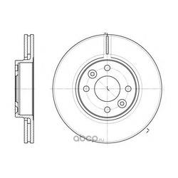 Тормозной диск (Remsa) 668310