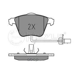 Комплект тормозных колодок, дисковый тормоз (Meyle) 0252376220W
