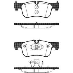 Комплект тормозных колодок, дисковый тормоз (Remsa) 147810