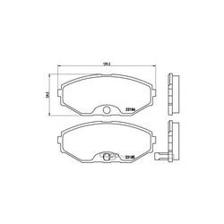 Колодки тормозные дисковые передние, комплект (Brembo) P56045
