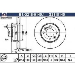 Тормозной диск (GALFER) B1G21801451