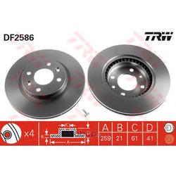 Тормозной диск (TRW/Lucas) DF2586