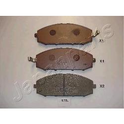 Колодки тормозные дисковые передние, комплект (Japanparts) PA178AF