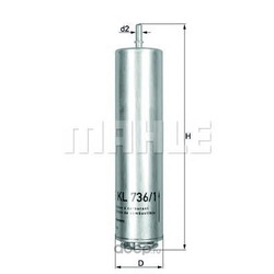 Топливный фильтр (Mahle/Knecht) KL7361D