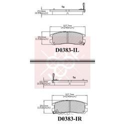 Дисковые тормозные колодки (Friction Master) ELT383