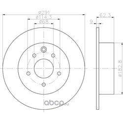 Тормозной диск (Hella) 8DD355119101