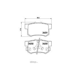 Комплект тормозных колодок, дисковый тормоз (Brembo) P28051