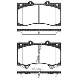 Комплект тормозных колодок, дисковый тормоз (Remsa) 150602