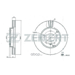 Диск.торм.перед. Chevrolet Captiva (C100) 07- Opel Antara 06- (Zekkert) BS5268