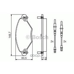 Колодки тормозные дисковые передние Bosch (Bosch) 0986424582