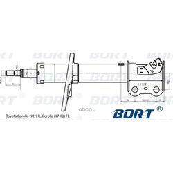 Стойка амортизационная газомасляная передняя левая (BORT) G22250144L