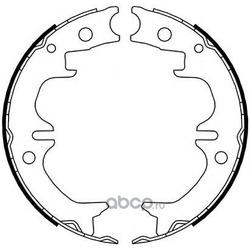 Комплект тормозных колодок, стояночная тормозная система (Ferodo) FSB4069