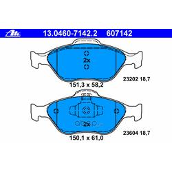 Комплект тормозных колодок, дисковый тормоз (Ate) 13046071422