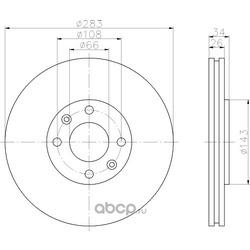 Тормозной диск (Hella) 8DD355108371