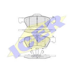 Комплект тормозных колодок, дисковый тормоз (Icer) 182030