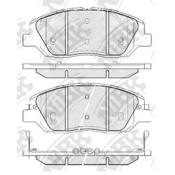 Колодки тормозные дисковые (NiBK) PN0446