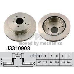 Тормозной диск (Nipparts) J3310908