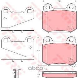 Колодки тормозные задние (TRW/Lucas) GDB3350