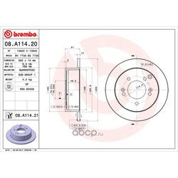 Задние тормозные диски (Hyundai-KIA) 5841139600