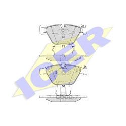 Колодки тормозные дисковые, комплект (Icer) 181577