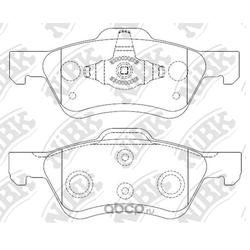 Колодки тормозные дисковые (NiBK) PN0071