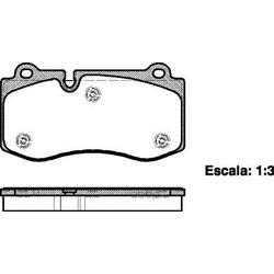 Комплект тормозных колодок, дисковый тормоз (Road house) 2120200