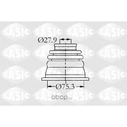Пыльник шруса левого внутреннего (Sasic) 4003470