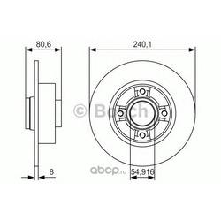 Тормозной диск (Bosch) 0986479S37