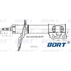 Стойка амортизационная газомасляная передняя правая (BORT) G22048011R