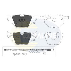 Комплект тормозных колодок, дисковый тормоз (Comline) CBP01205