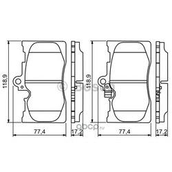 Комплект тормозных колодок, дисковый тормоз (Bosch) 0986494252