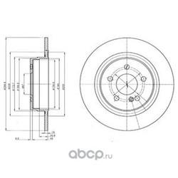 Тормозной диск (Delphi) BG4153