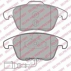 Колодки тормозные, комплект, передние (Delphi) LP2110