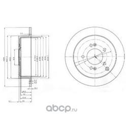 Тормозной диск (Delphi) BG3680