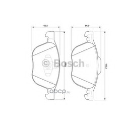 Колодки тормозные дисковые, комплект (Bosch) 0986424794