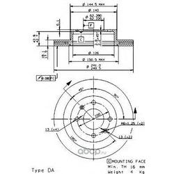 Тормозной диск (Brembo) 09950310