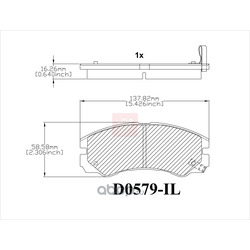 Дисковые тормозные колодки (Friction Master) CMX579