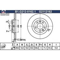 Тормозной диск (GALFER) B1G21201621