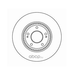 Диск тормозной пер. вент.NK (Nk) 203422