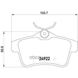 Колодки тормозные дисковые TEXTAR (Textar) 2492201