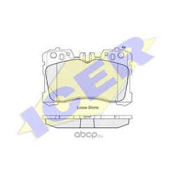Колодки тормозные дисковые, комплект (Icer) 181935