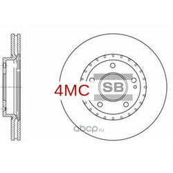 Диск тормозной передний (Sangsin brake) SD1071